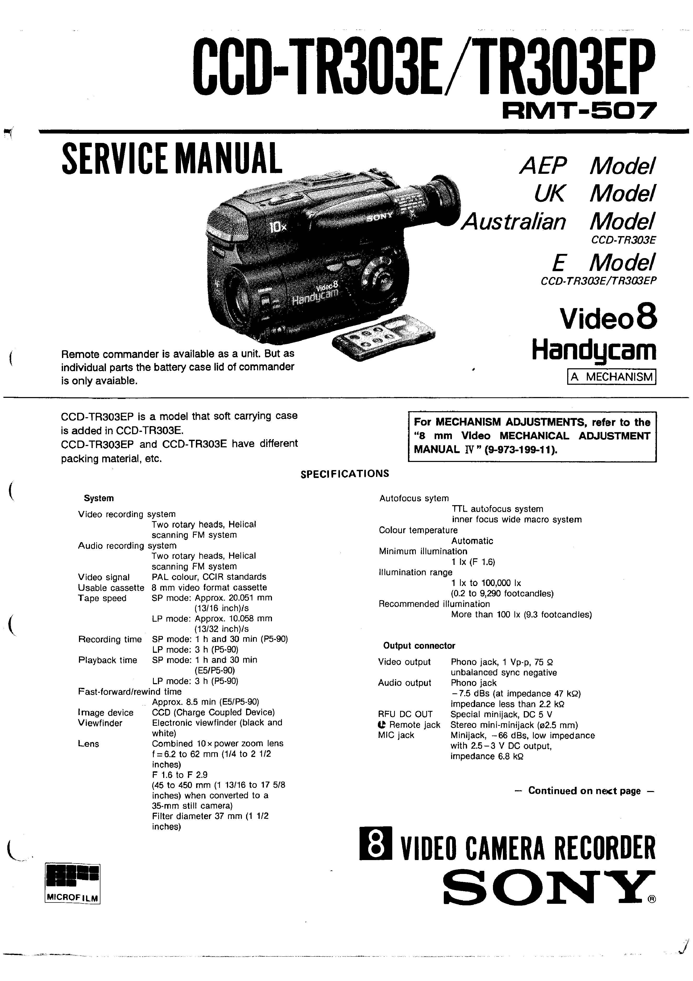 Sony Ccd Wiring Diagram Blog Cdx Gt250mp Ccdtr303e Ep Service Manual Immediate Download