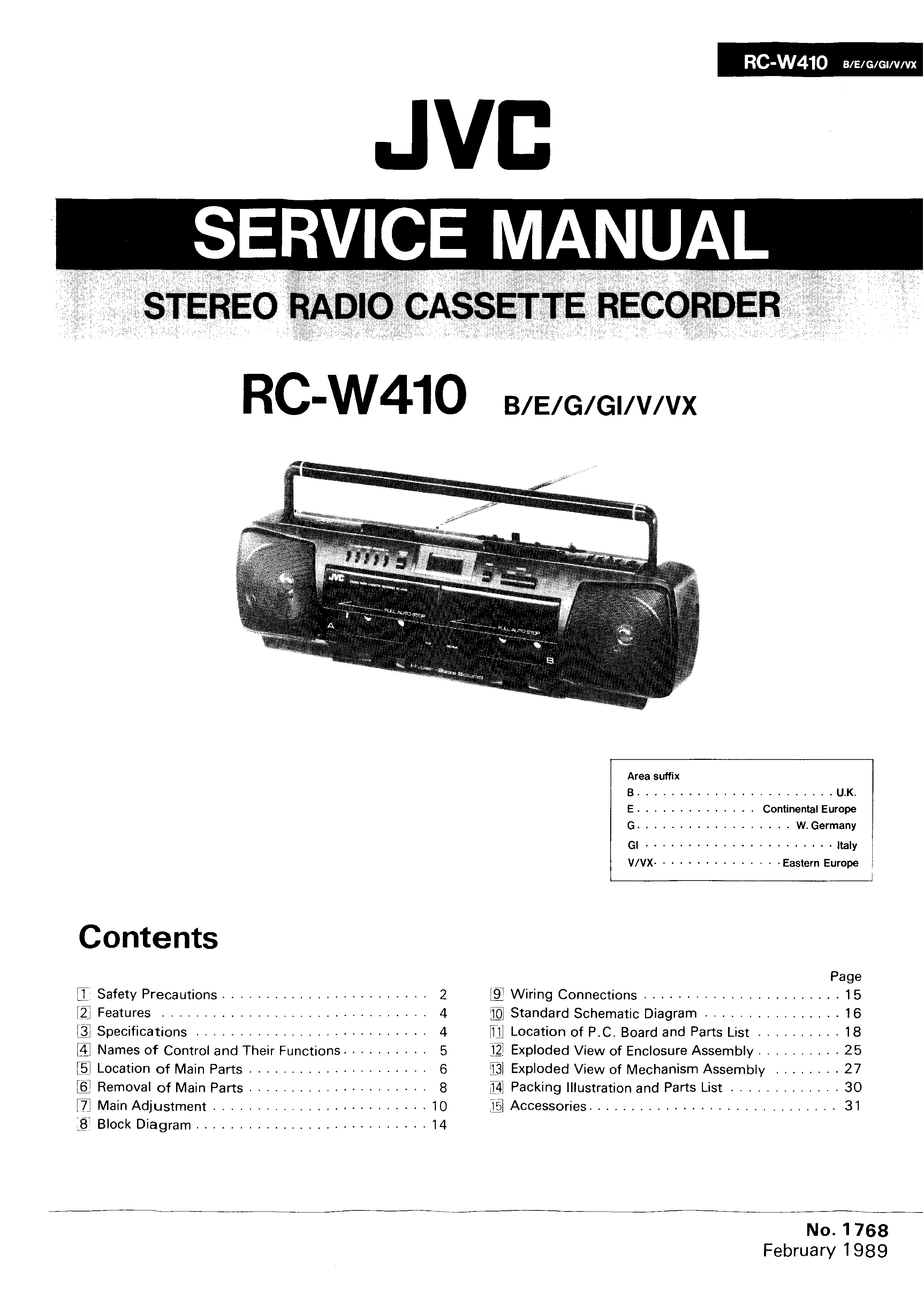 Jvc Rcw410 Service Manual Immediate Download Schematic Diagram Background Image
