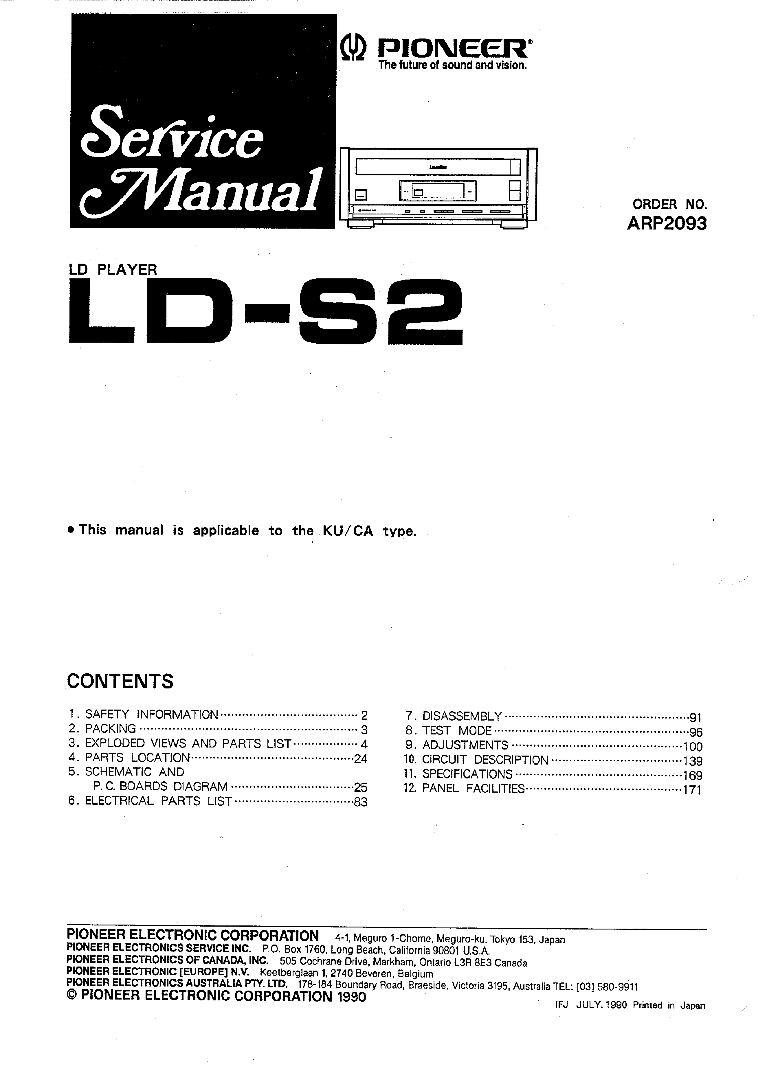 PIONEER LD-S2 - Service Manual Immediate Download