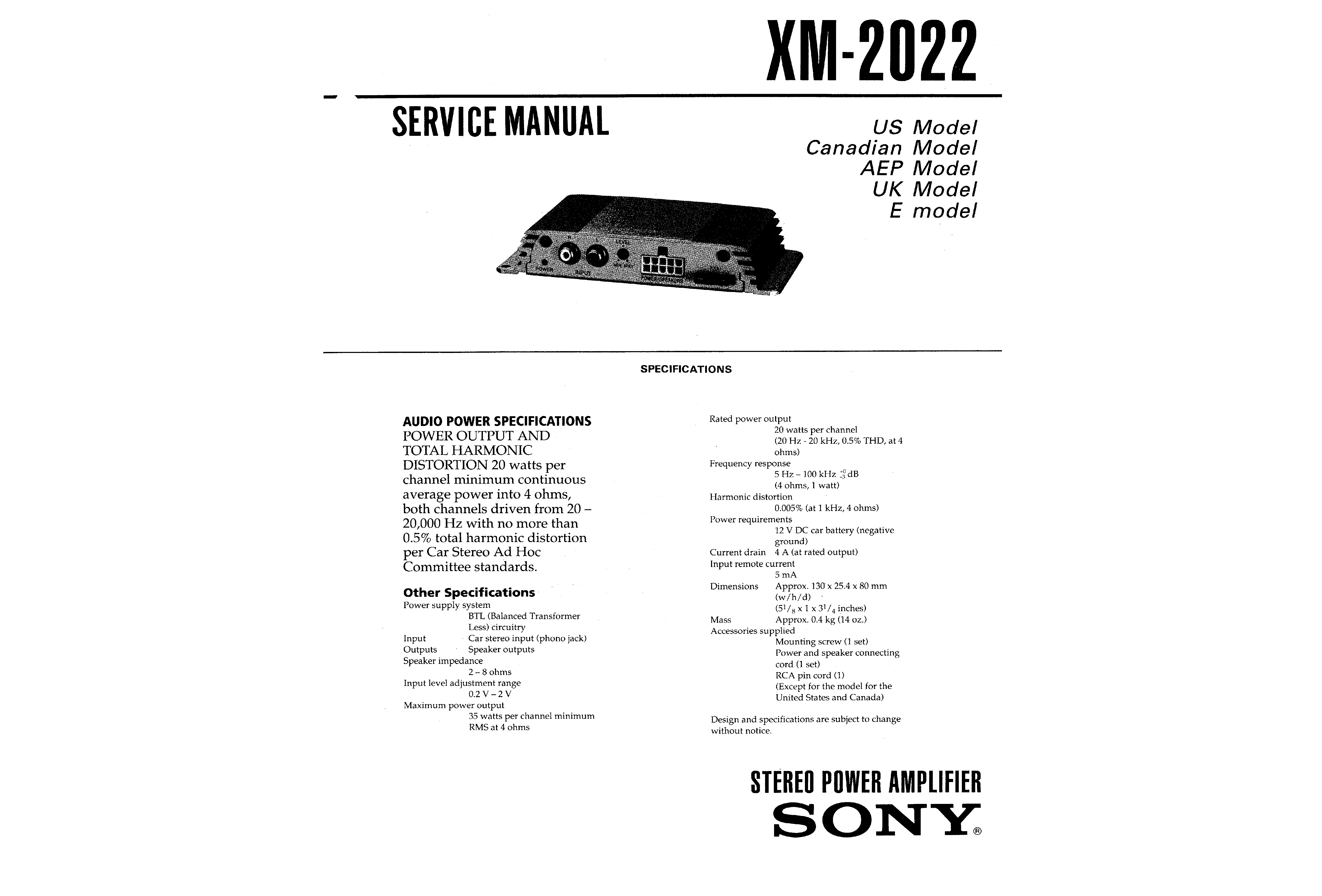 ... Array - sony xm 2022 service manual immediate download rh manualscenter  com