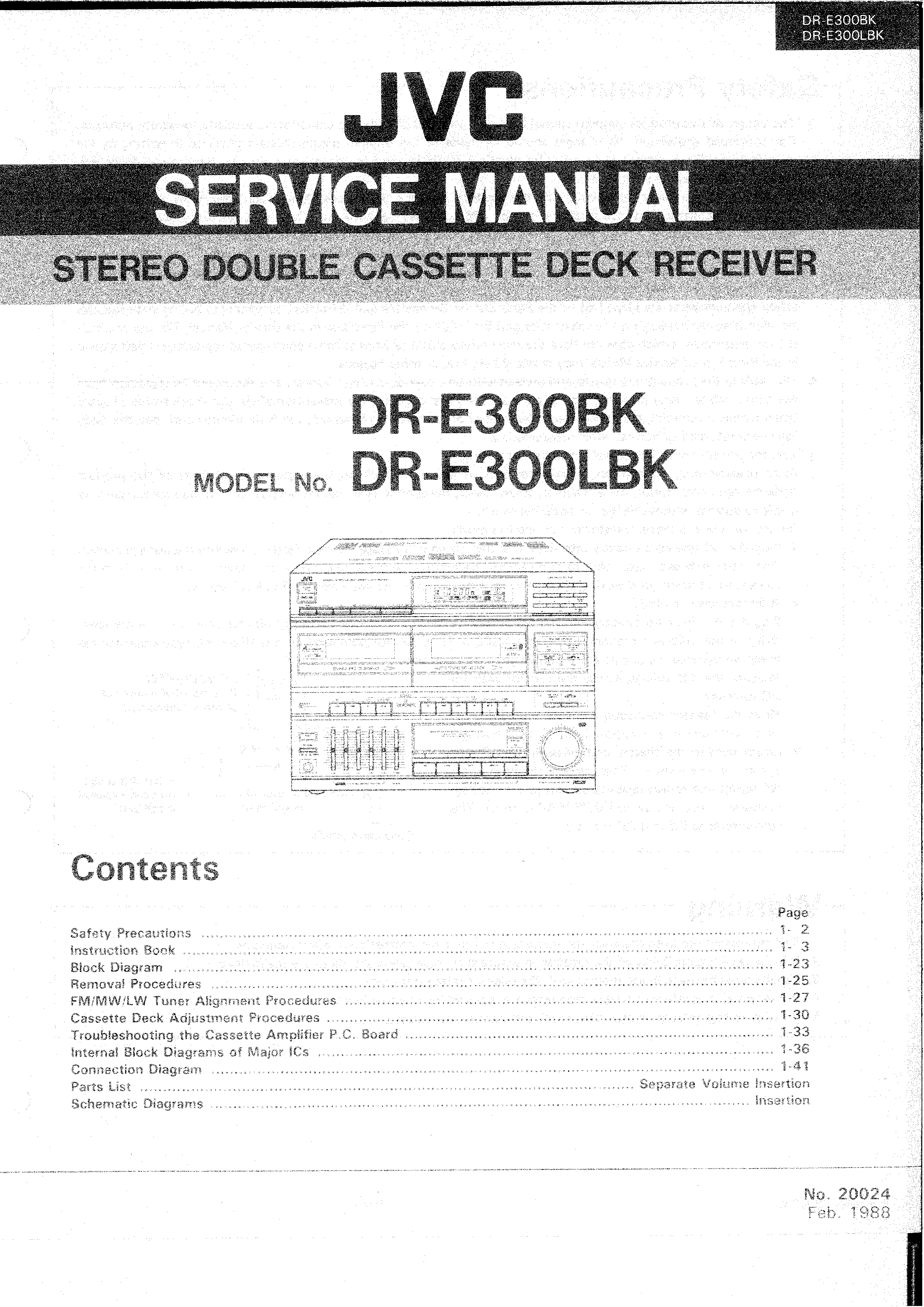 Jvc Dre300 Service Manual Immediate Download Schematic Diagram Background Image
