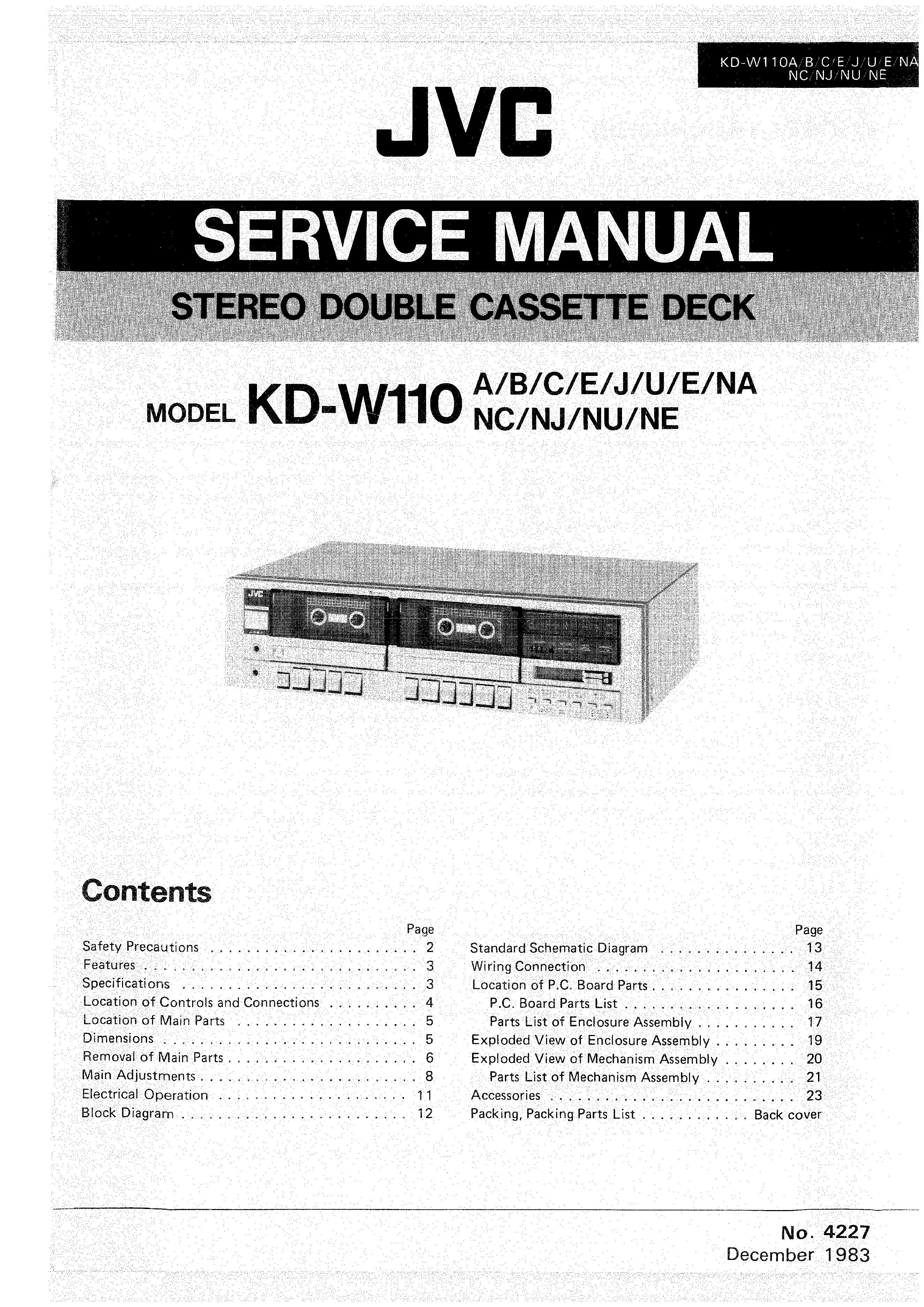 Jvc Kdw110 Service Manual Immediate Download Schematic Diagram Background Image