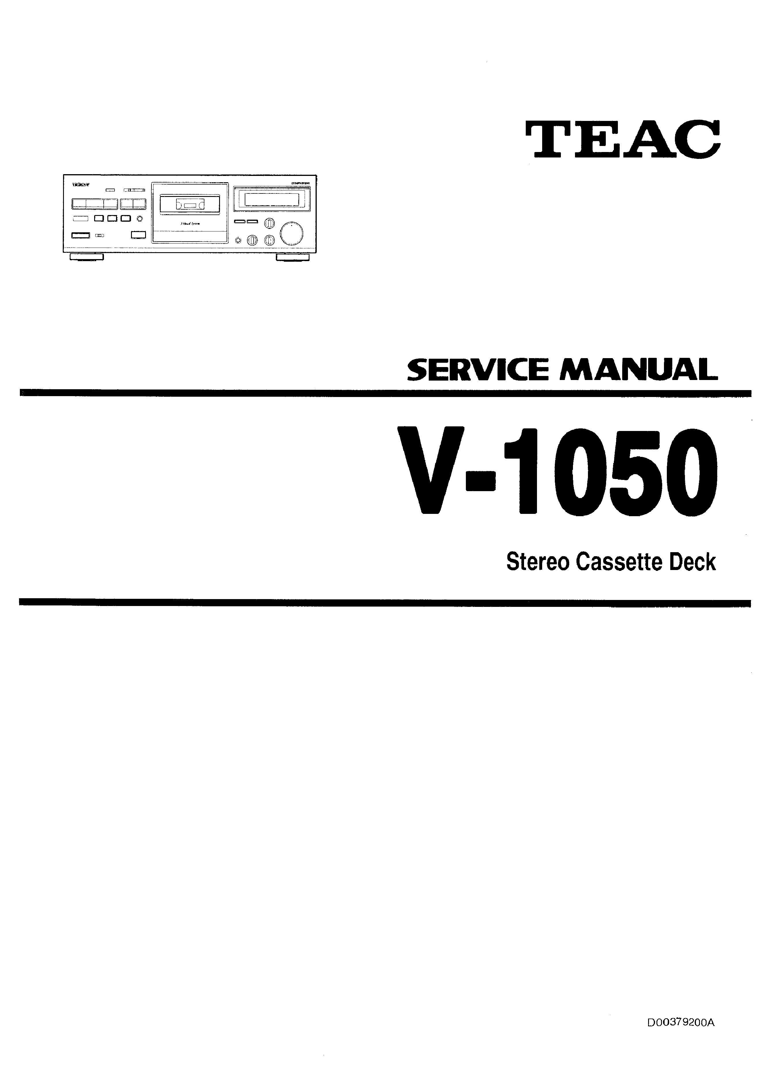 TEAC V-1050 - Service Manual Immediate Download