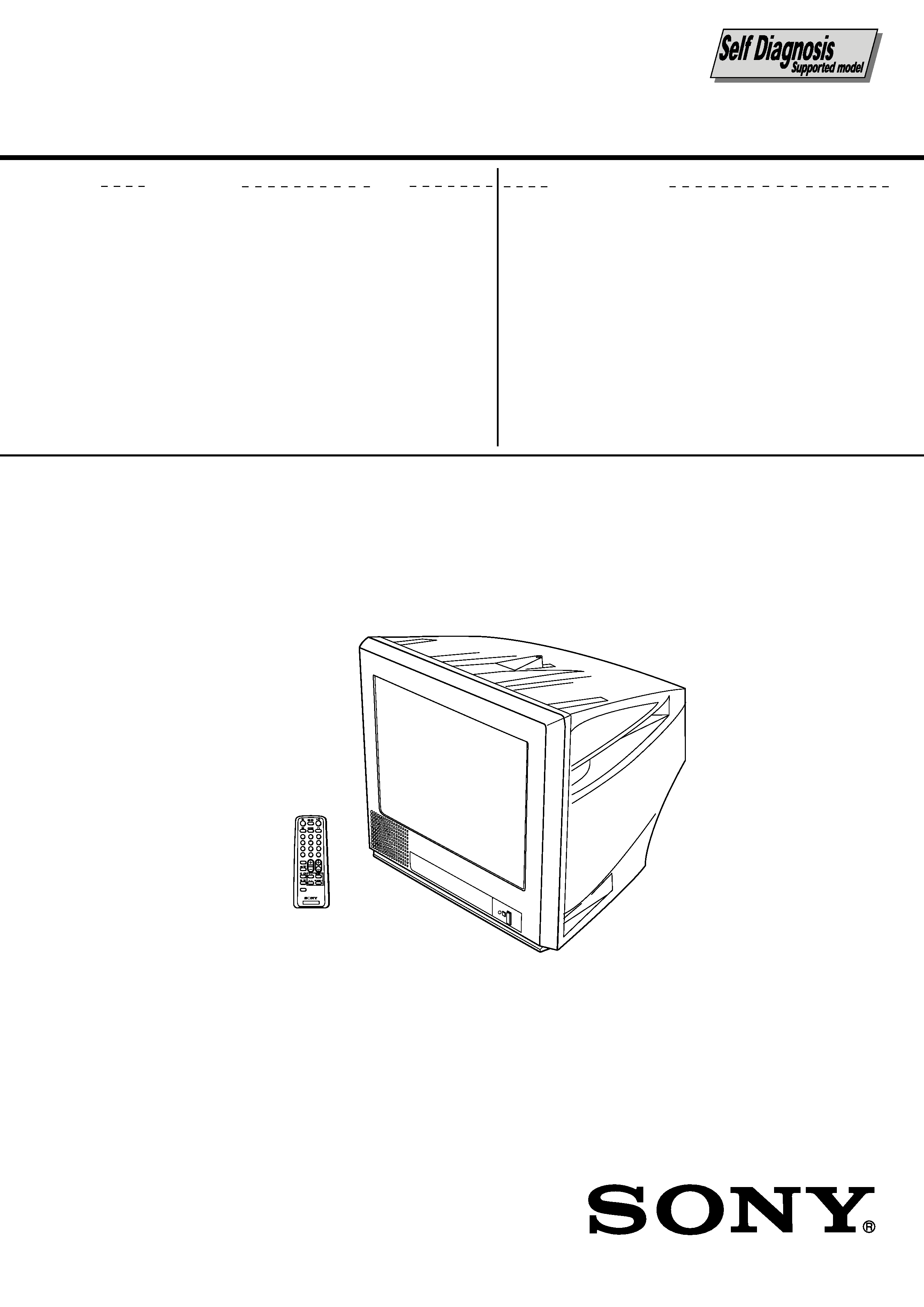 Sony Kvpg14l70 Service Manual Immediate Download Crt Screen Schematic Background Image