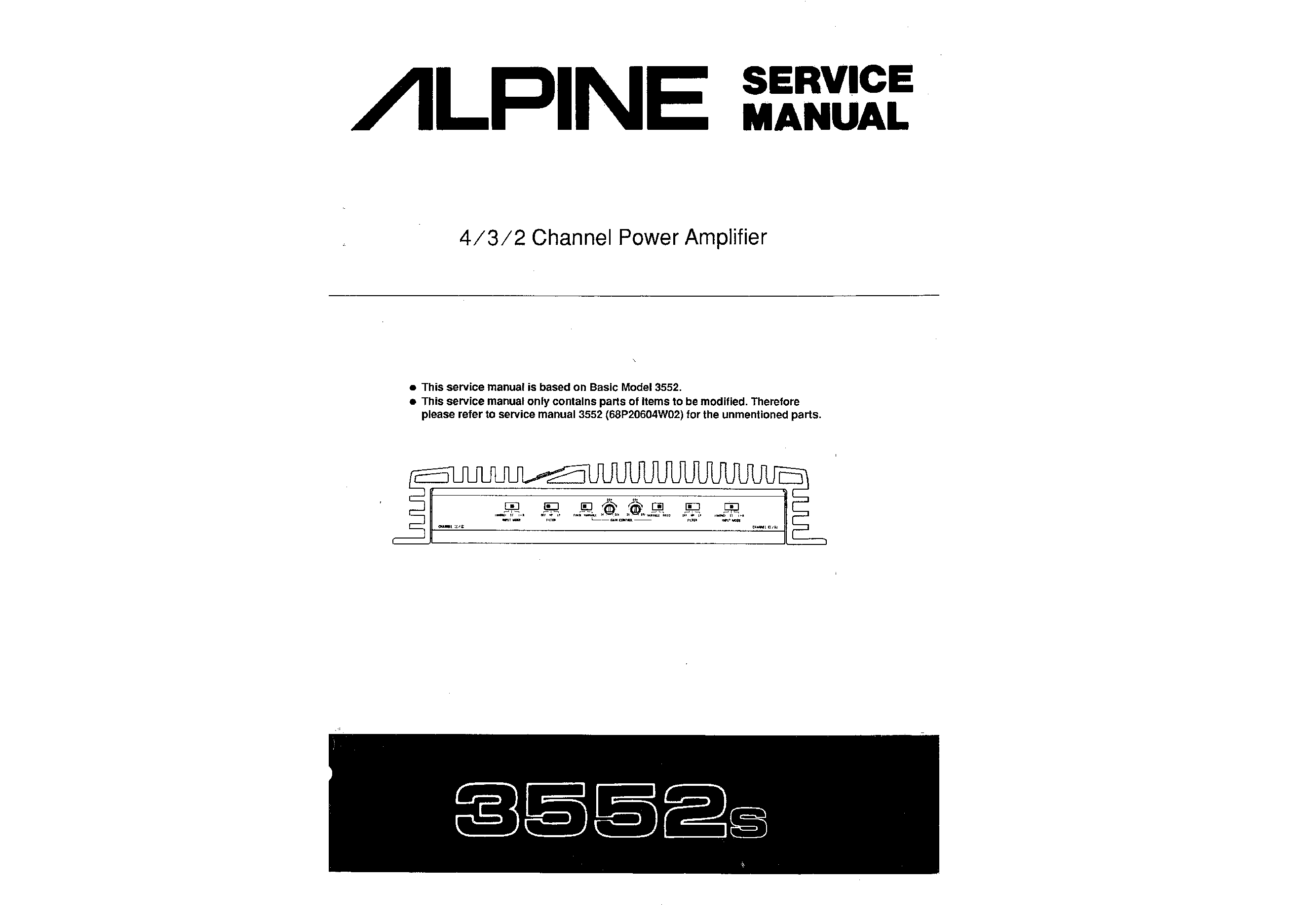alpine 3552s service manual immediate download rh manualscenter com FTB 3552 IRS Form 3552