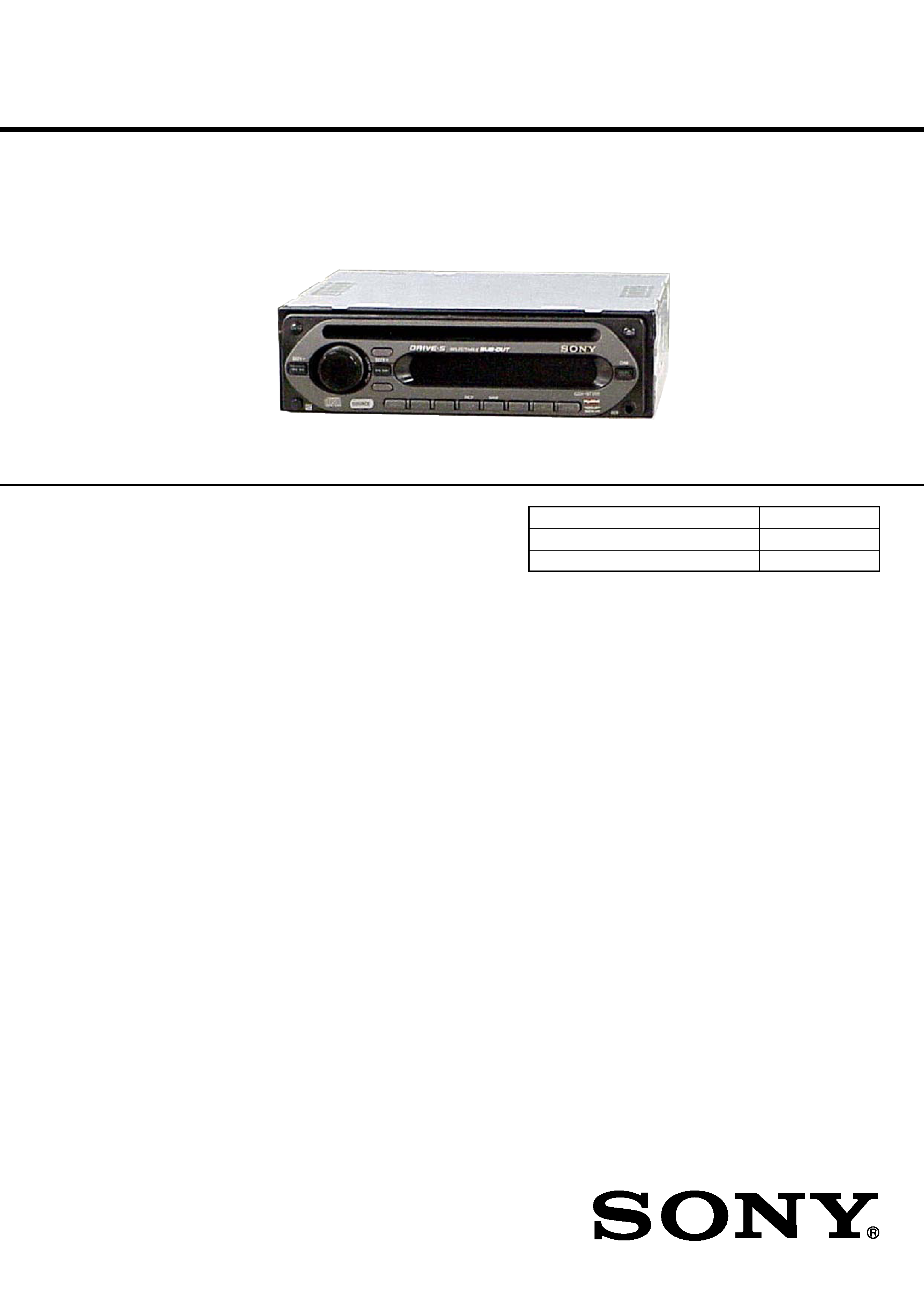 Sony Cdxgt250s Service Manual Immediate Download Cdx Gt200 Wiring Diagram Free Schematic And Background Image