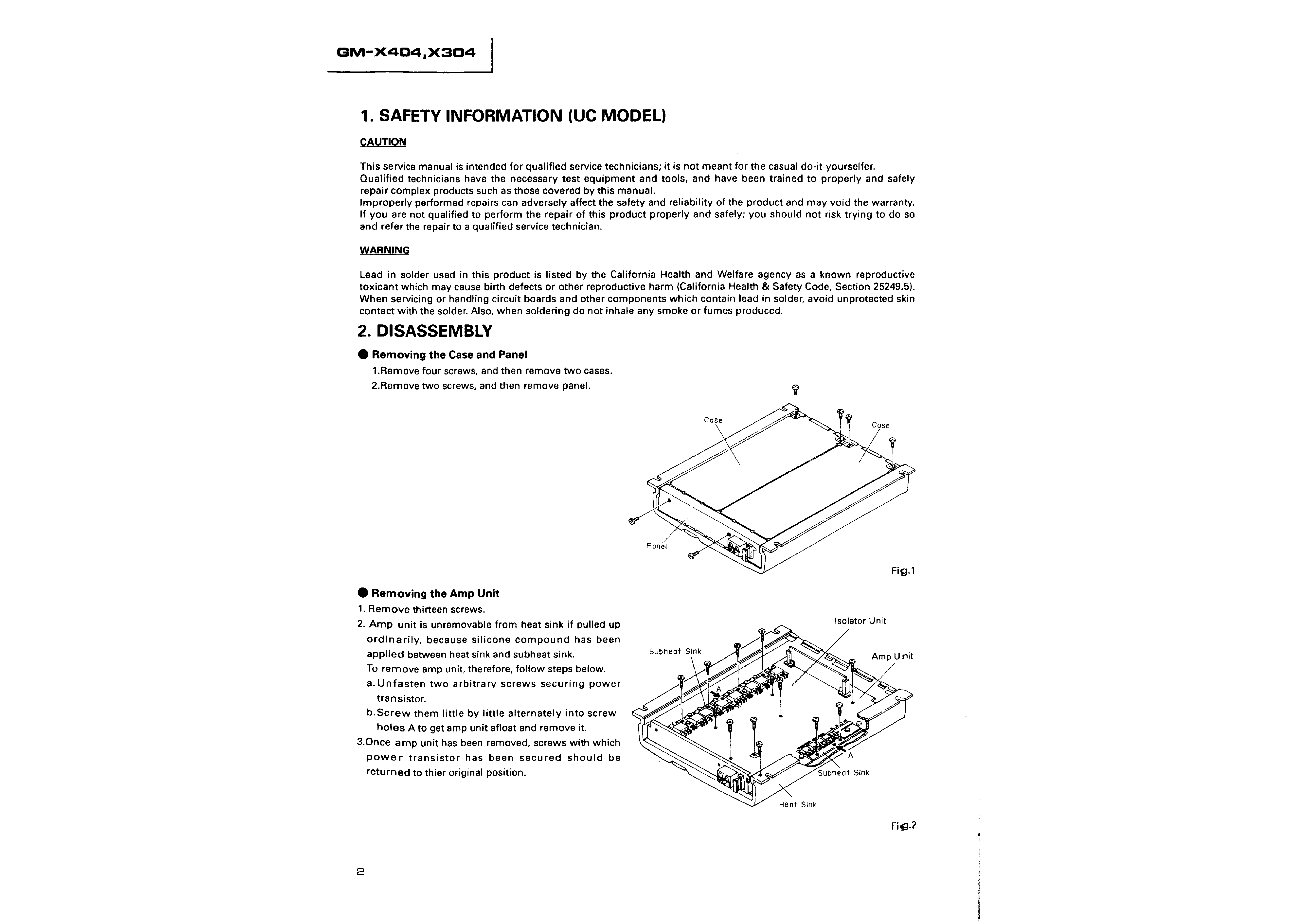X304 Wiring Diagram Page 2 And Schematics La175 Pioneer Gmx404 Service Manual Immediate Amplifier Gm