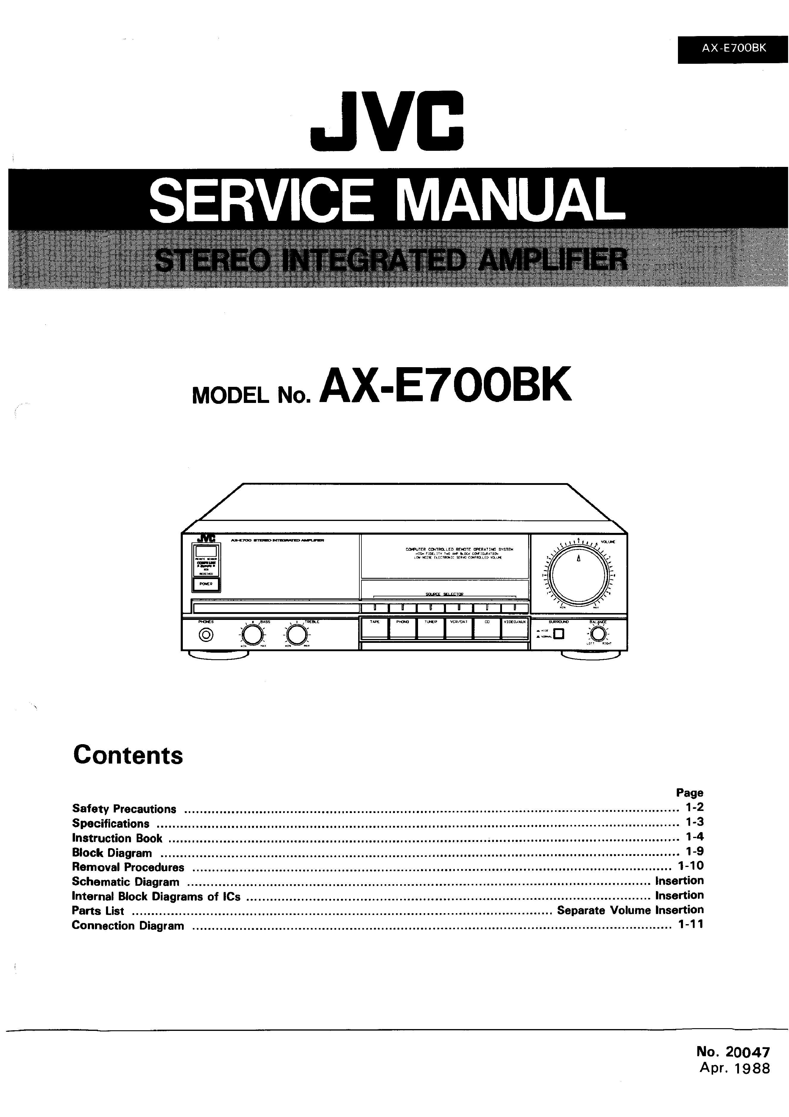Jvc Axe700bk Service Manual Immediate Download Schematic Diagram Background Image