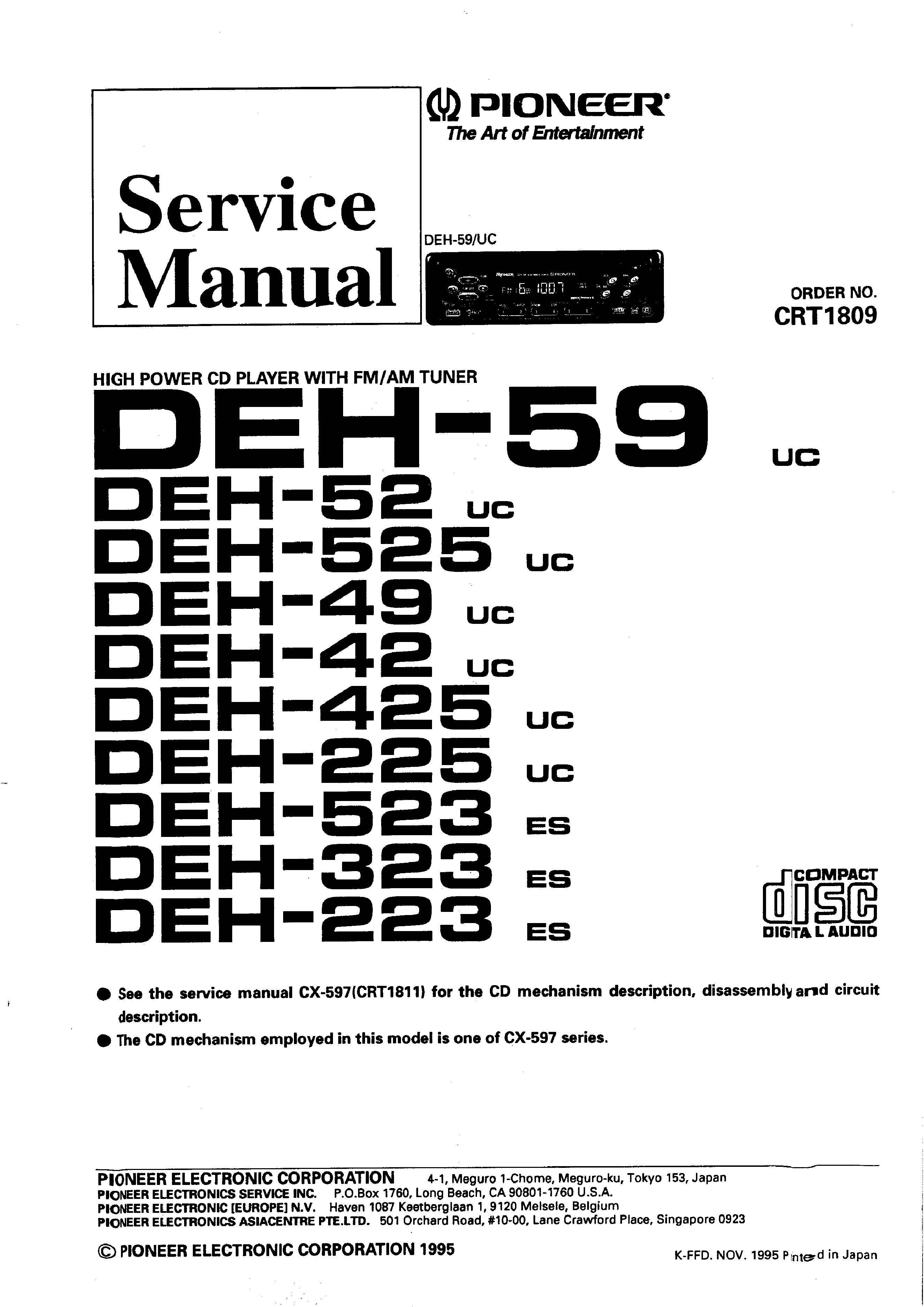 Pioneer Deh Wiring Diagram 425 Data X6600bt Library Sub Amp