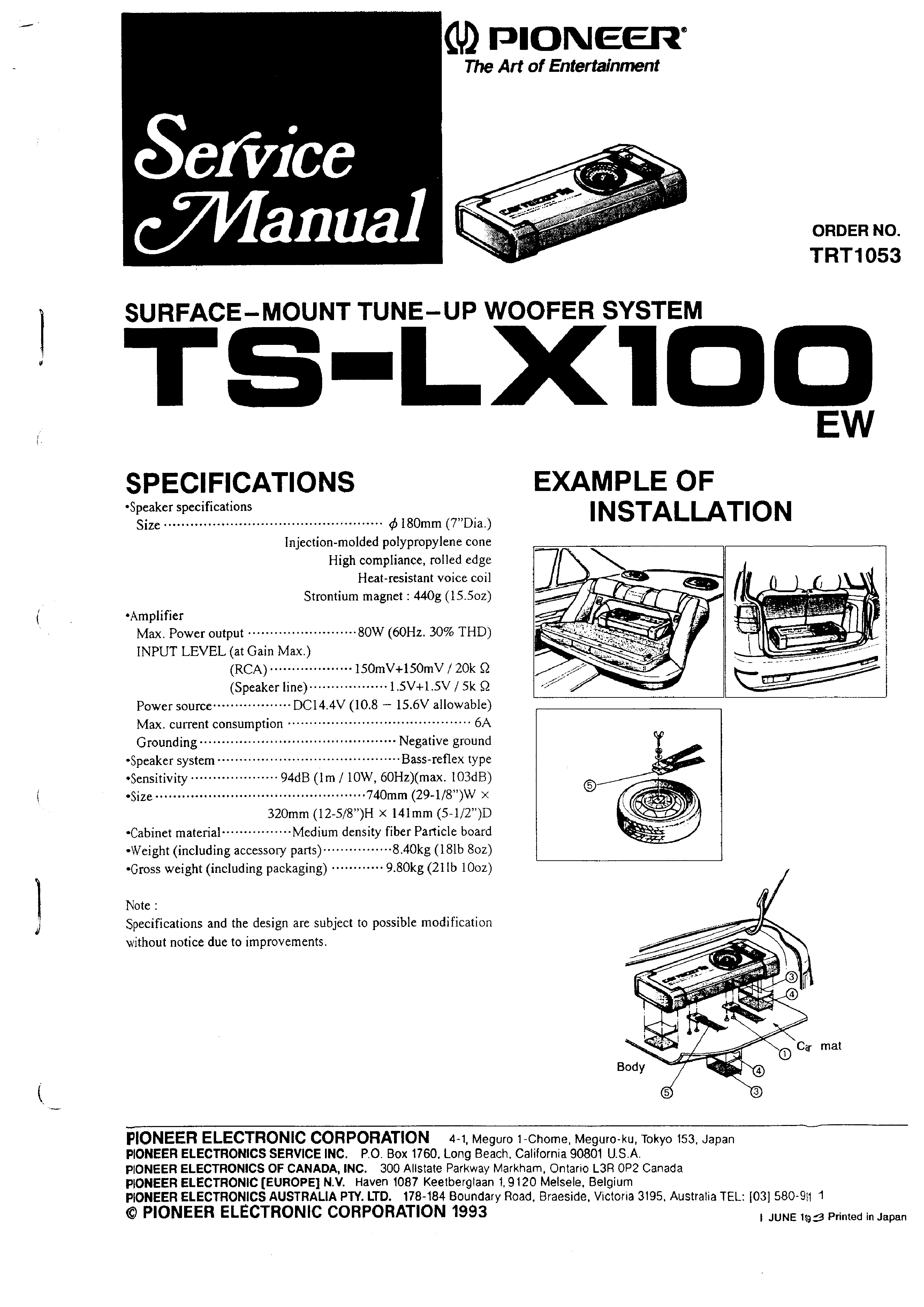 Pioneer tslx100 service manual immediate download background image asfbconference2016 Image collections