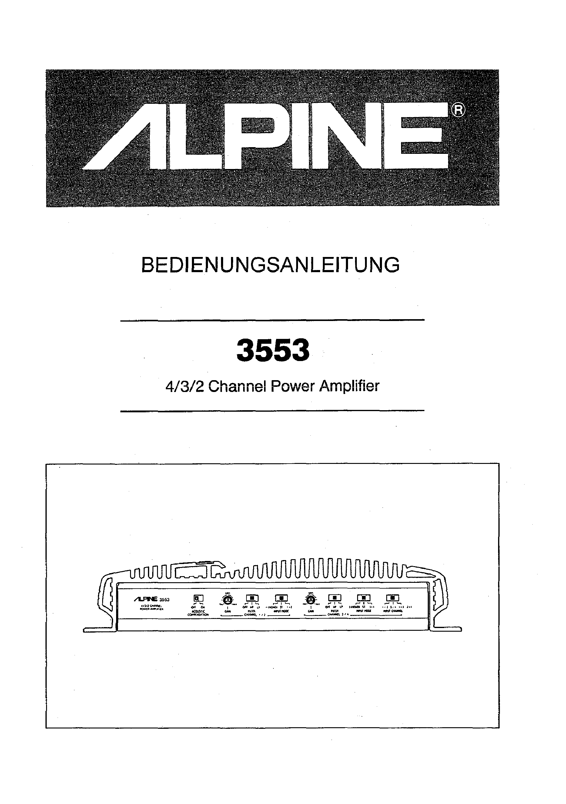 ALPINE 3553 - Owner's Manual Immediate Download