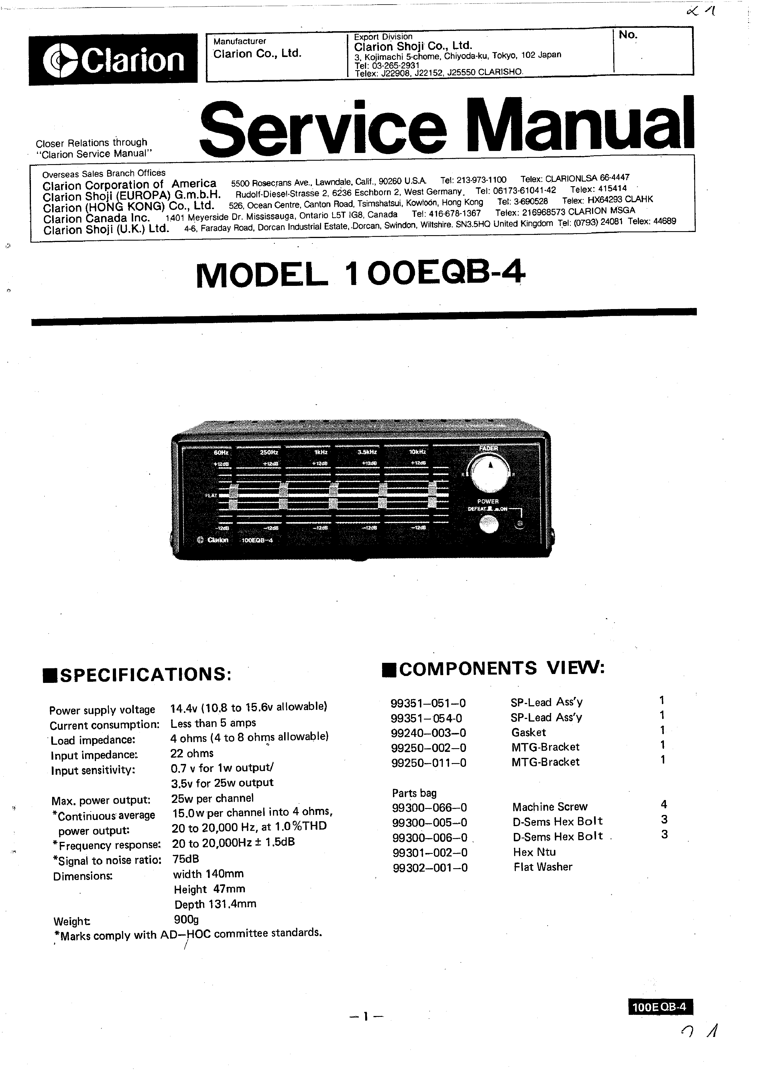 Clarion Cz500 Wiring Diagram 28 Images Xmd3 Stereo B6f93452567c9e51c5aff7d777c68f744f515579001 100eqb 4 Service Manual Immediate Download At
