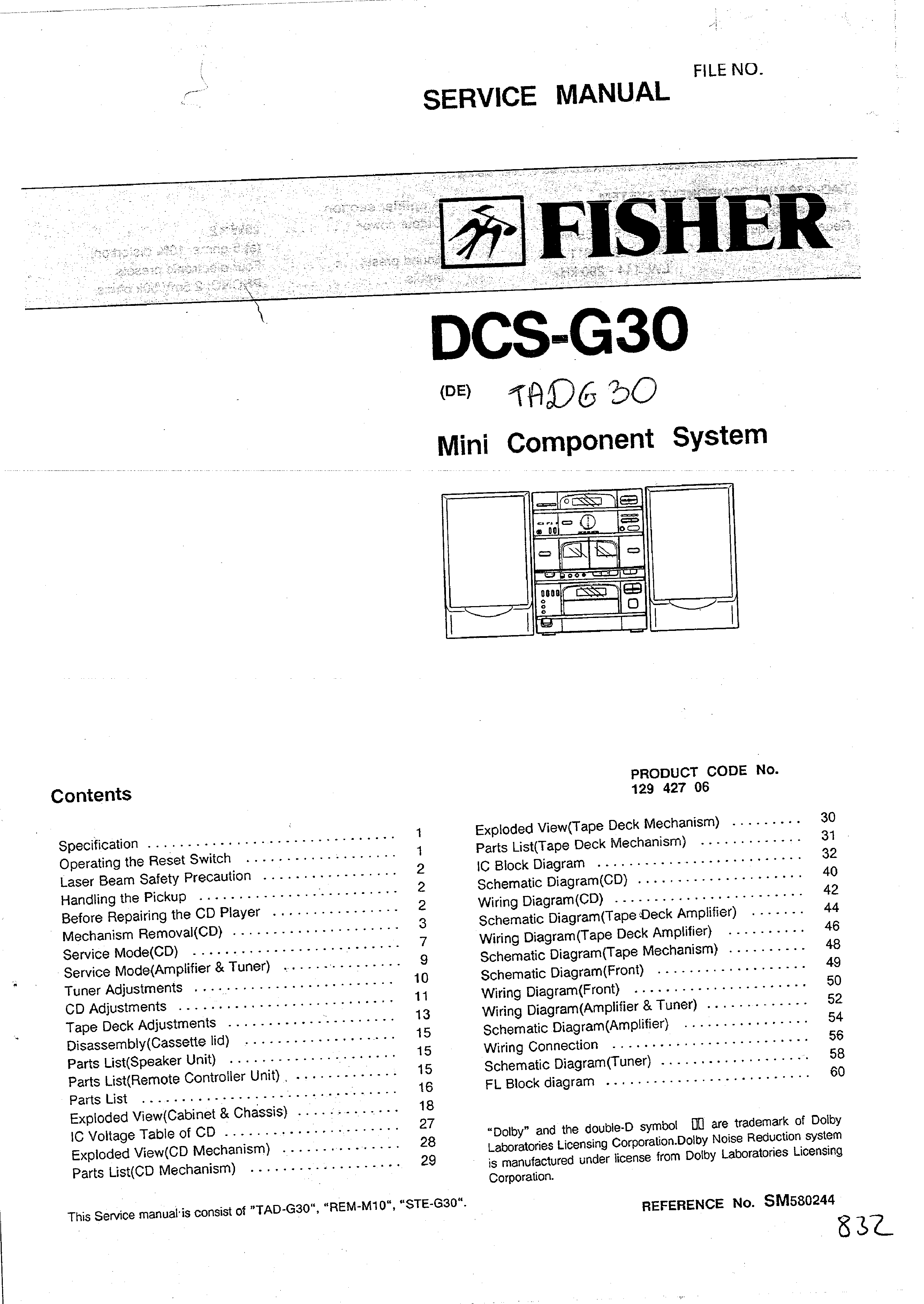 Fisher Dcsg30 Service Manual Immediate Download Dcs Wiring Schematic Background Image