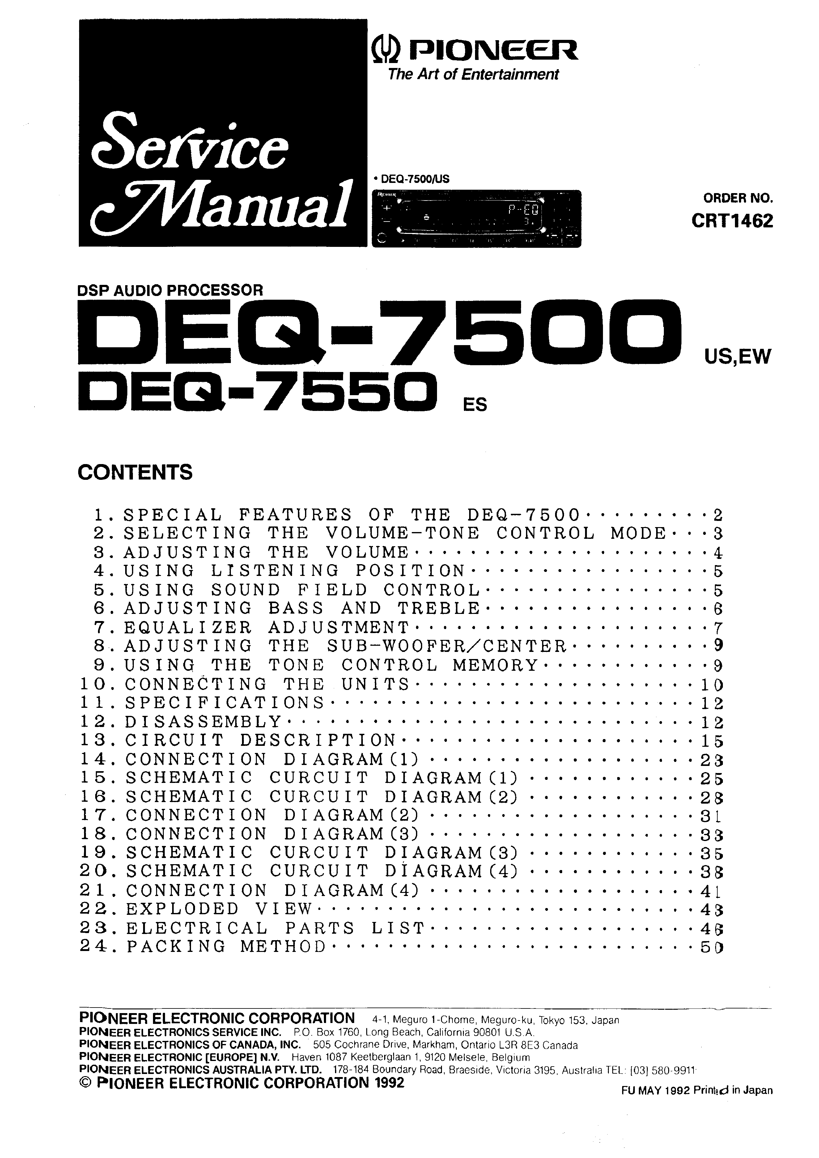 pioneer deq service manual immediate background image