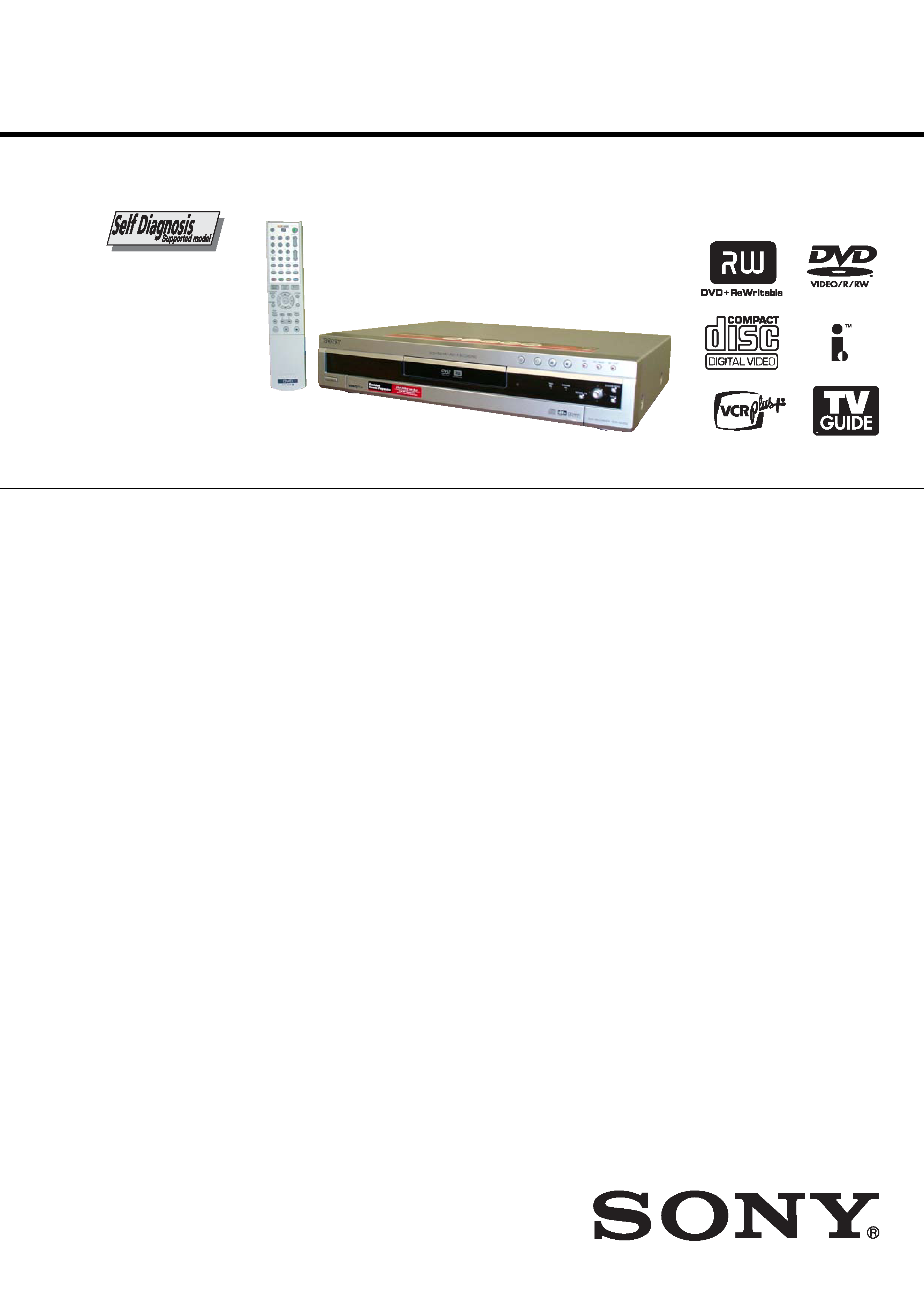 background image. SERVICE MANUAL. DVD RECORDER. SPECIFICATIONS. RDR-HX900