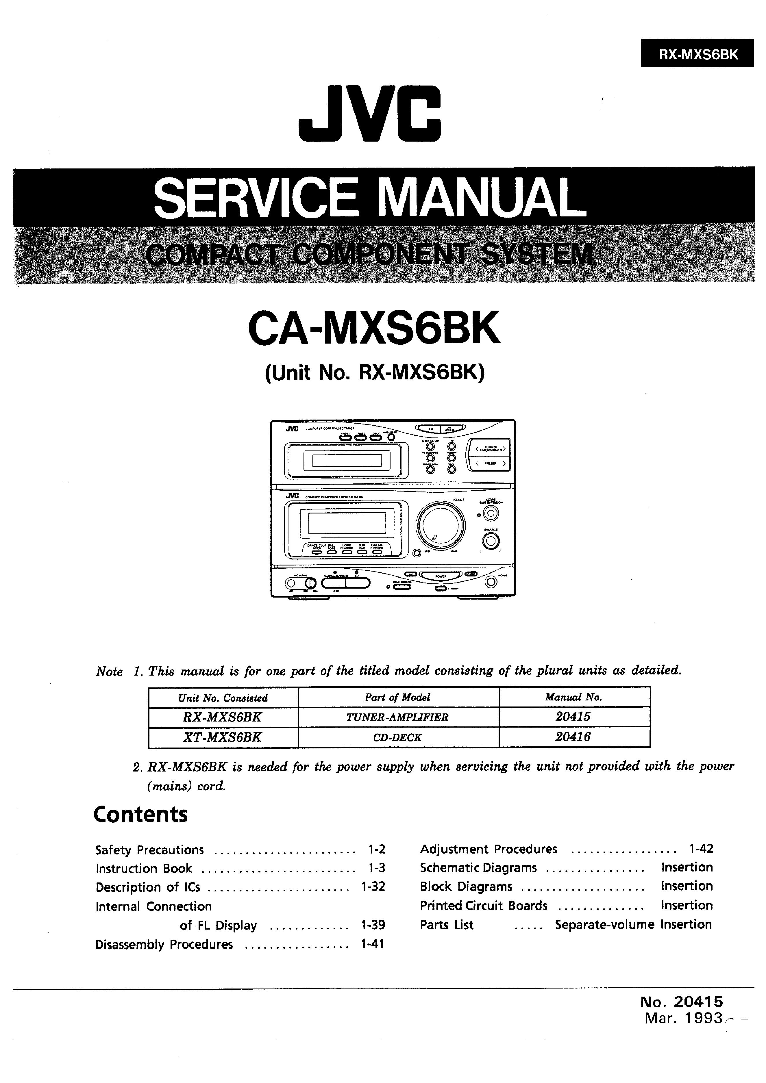 Jvc Camxs6bk Service Manual Immediate Download Schematic Diagram Background Image