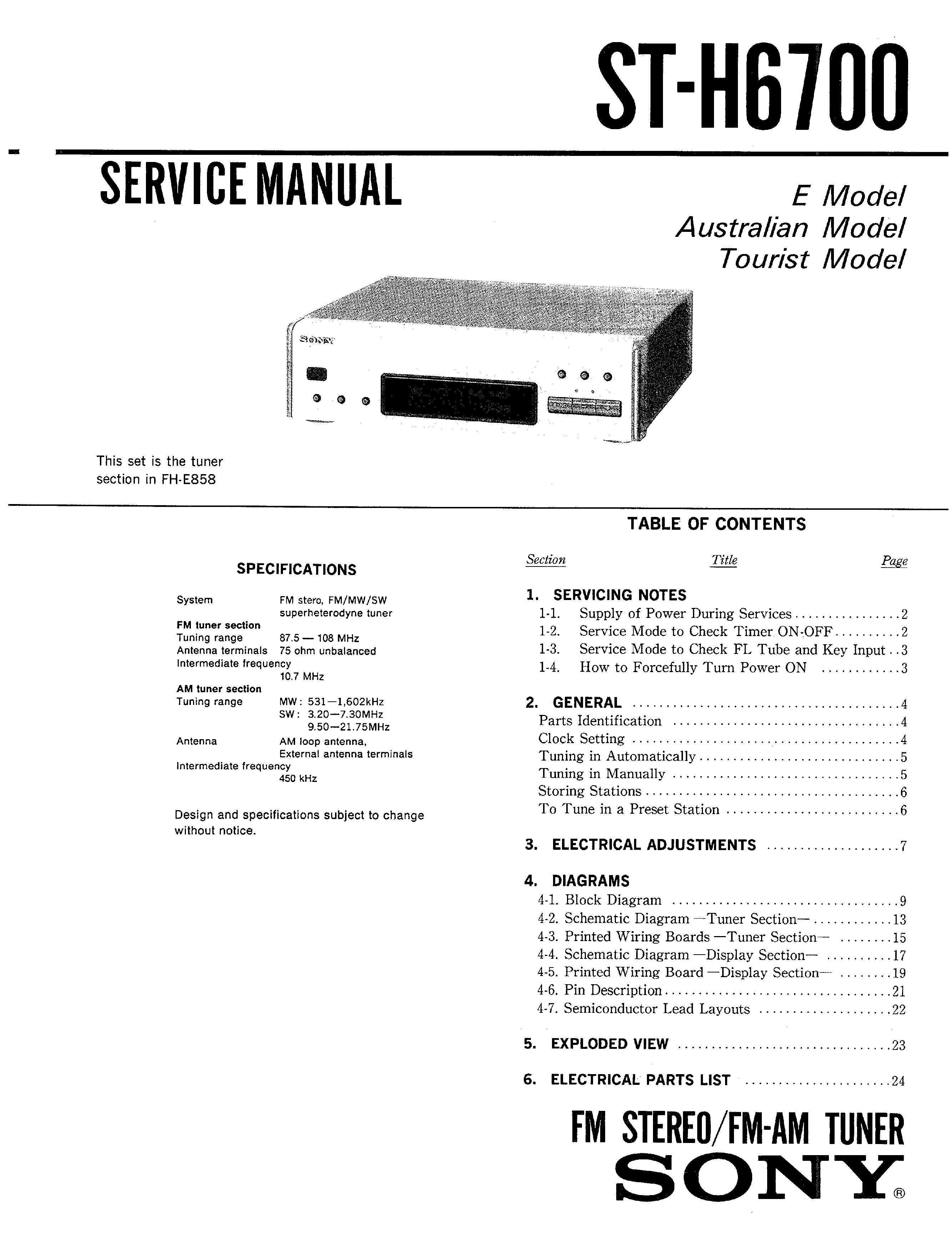 SONY MHC-6700 - Service Manual Immediate Download