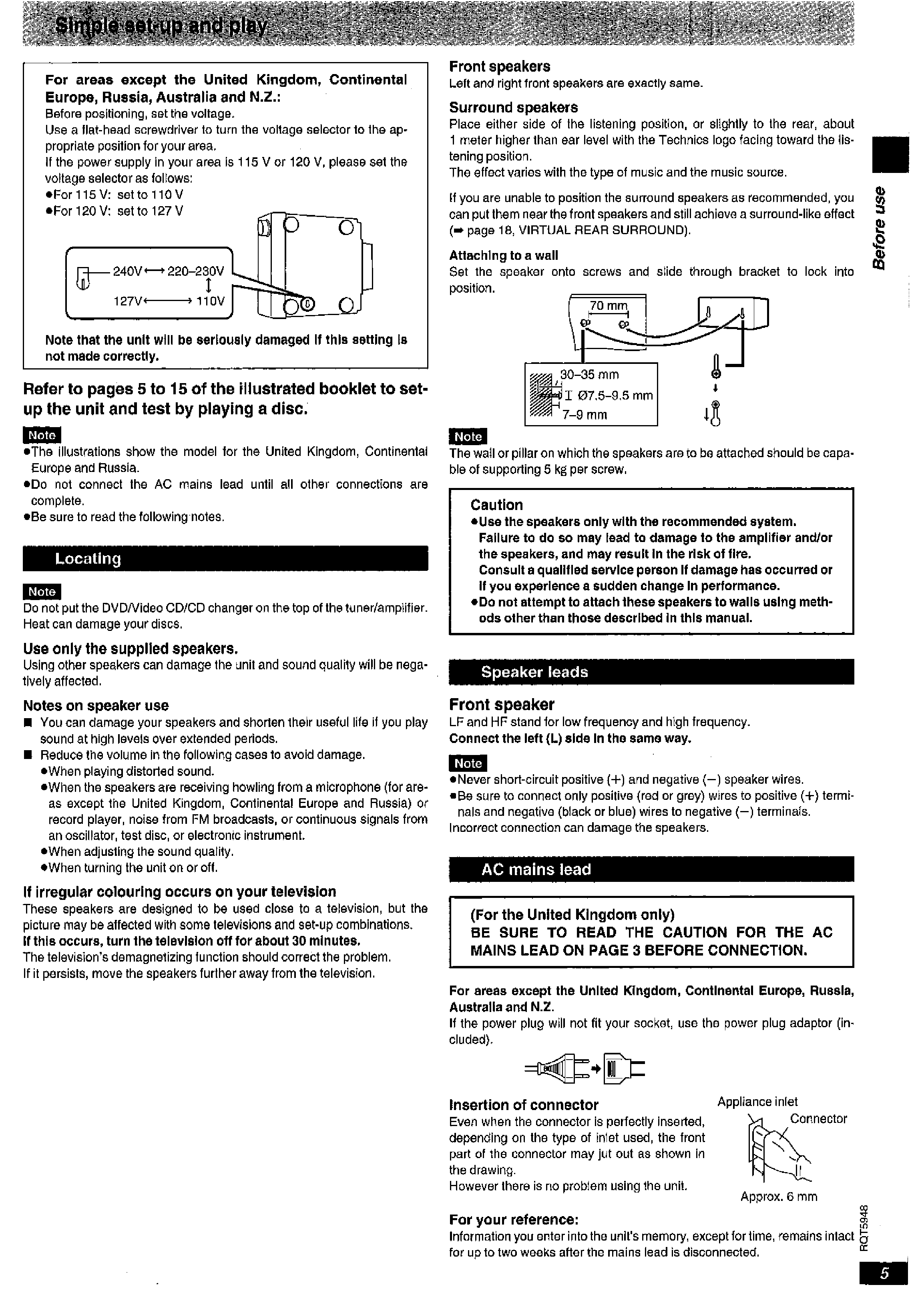 TECHNICS SC-DV250 - Owner's Manual Immediate Download