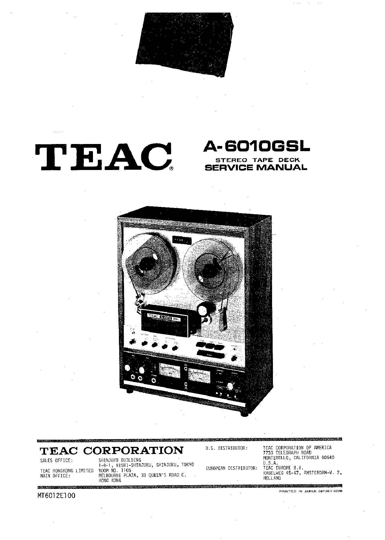 Teac 6010 Service Manual   Free Programs  Utilities And Apps