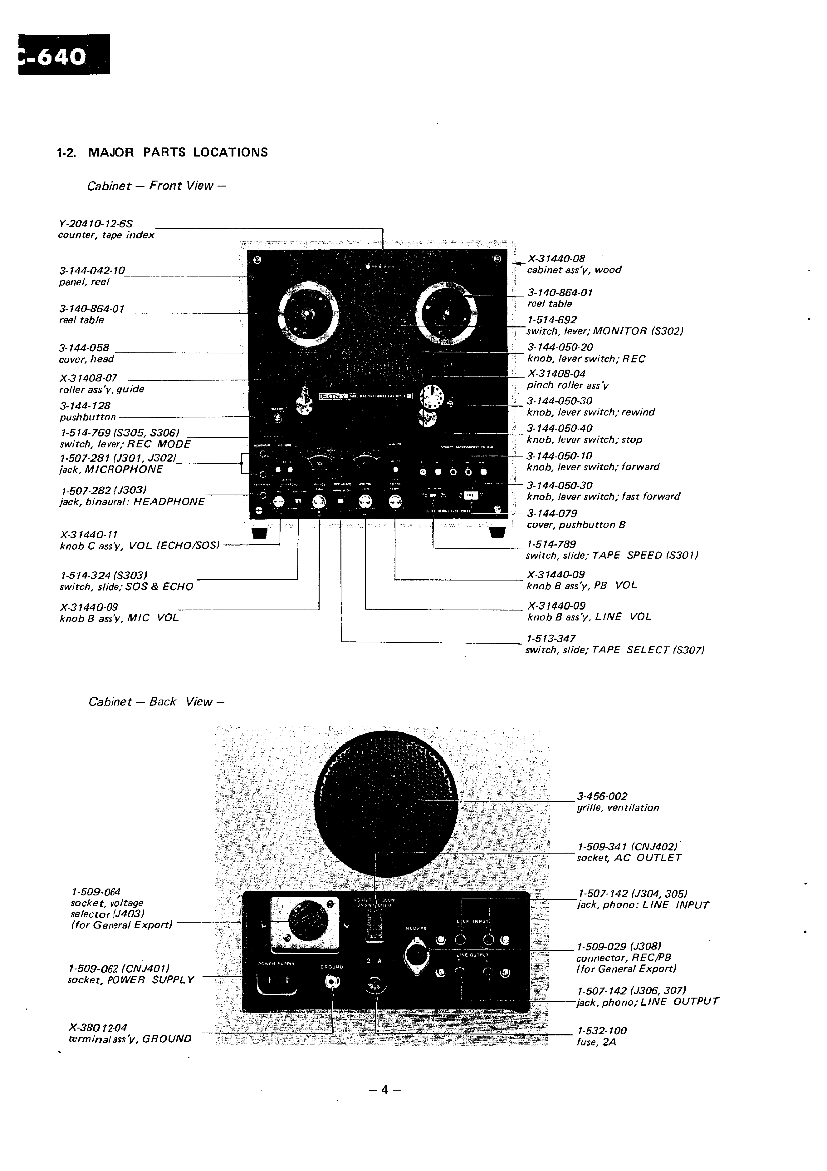 Sony Tc640 Service Manual Immediate Download
