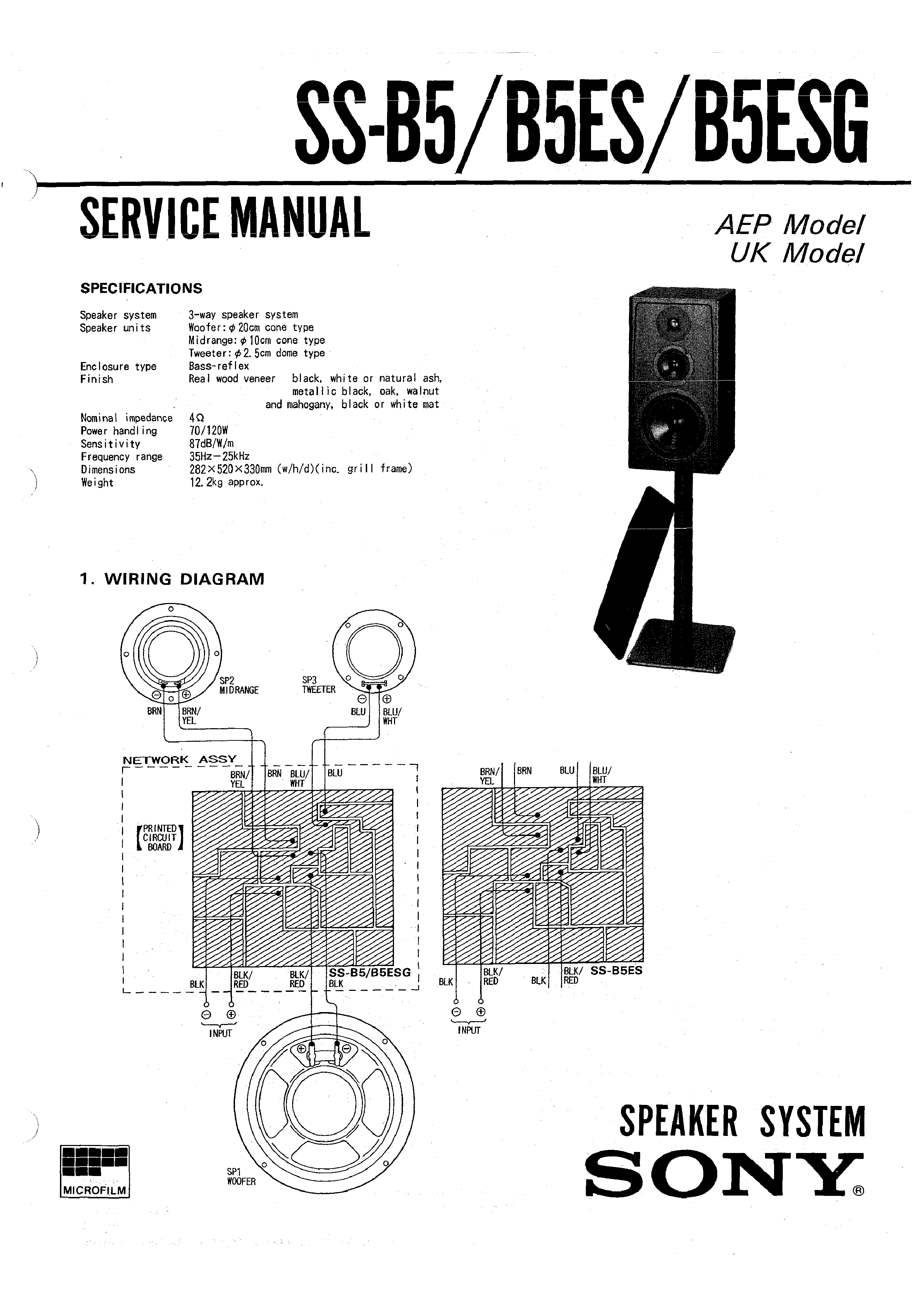 Sony Ssb5es Service Manual Immediate Download