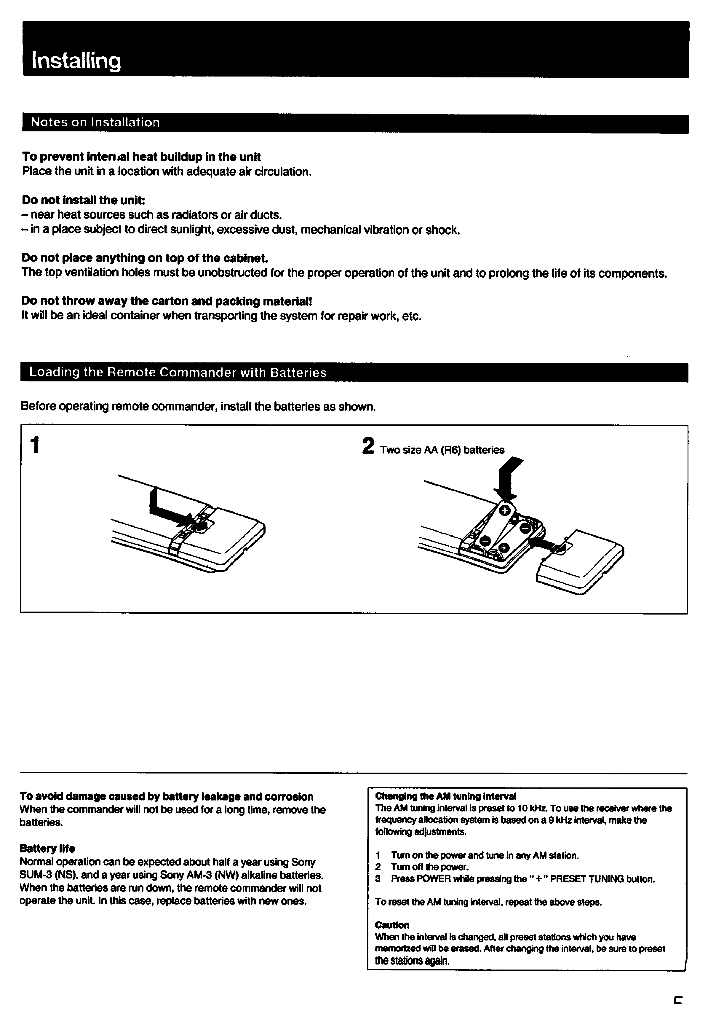 Sony Str Manual Guide