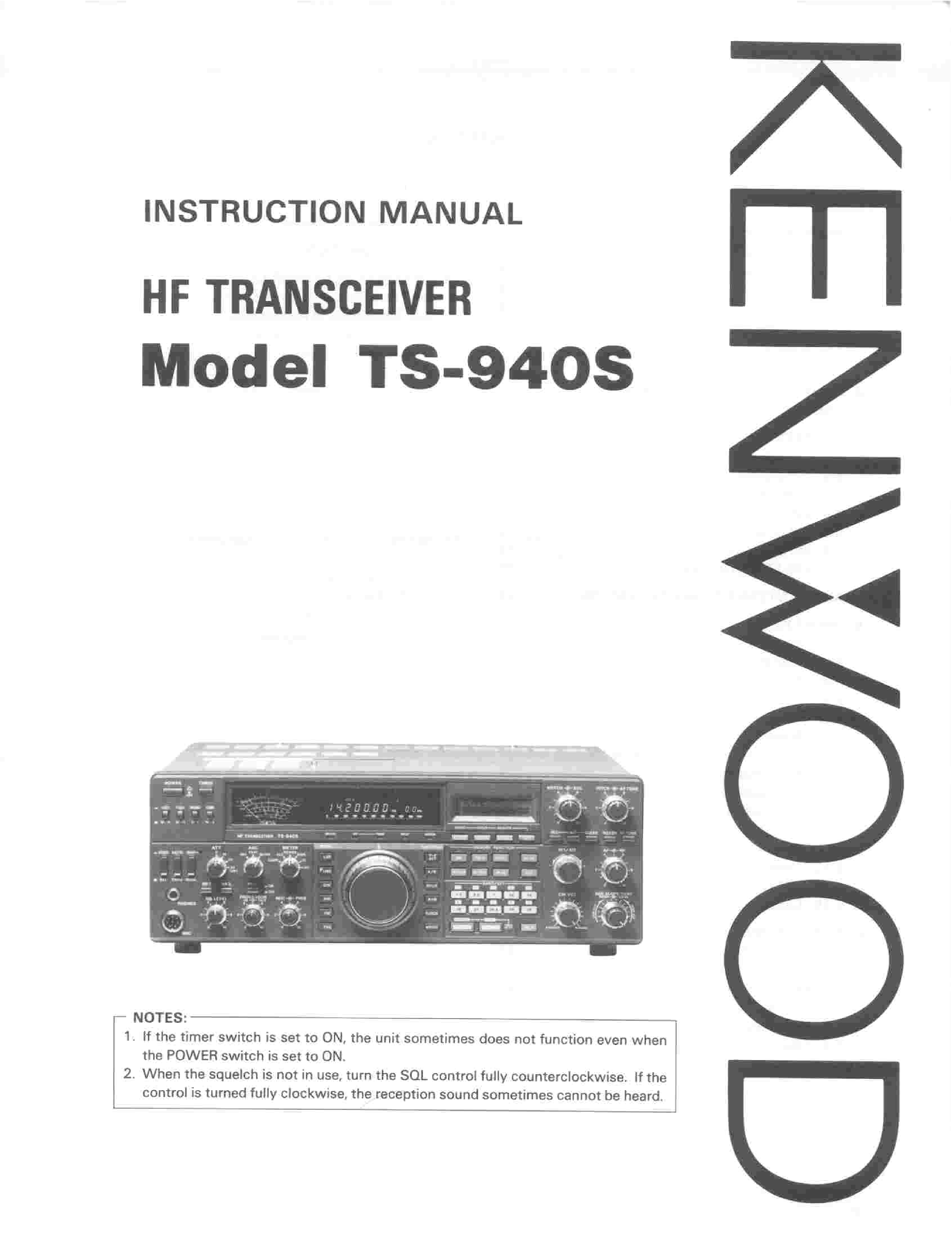 Kenwood Ts 940 Sat service Manual