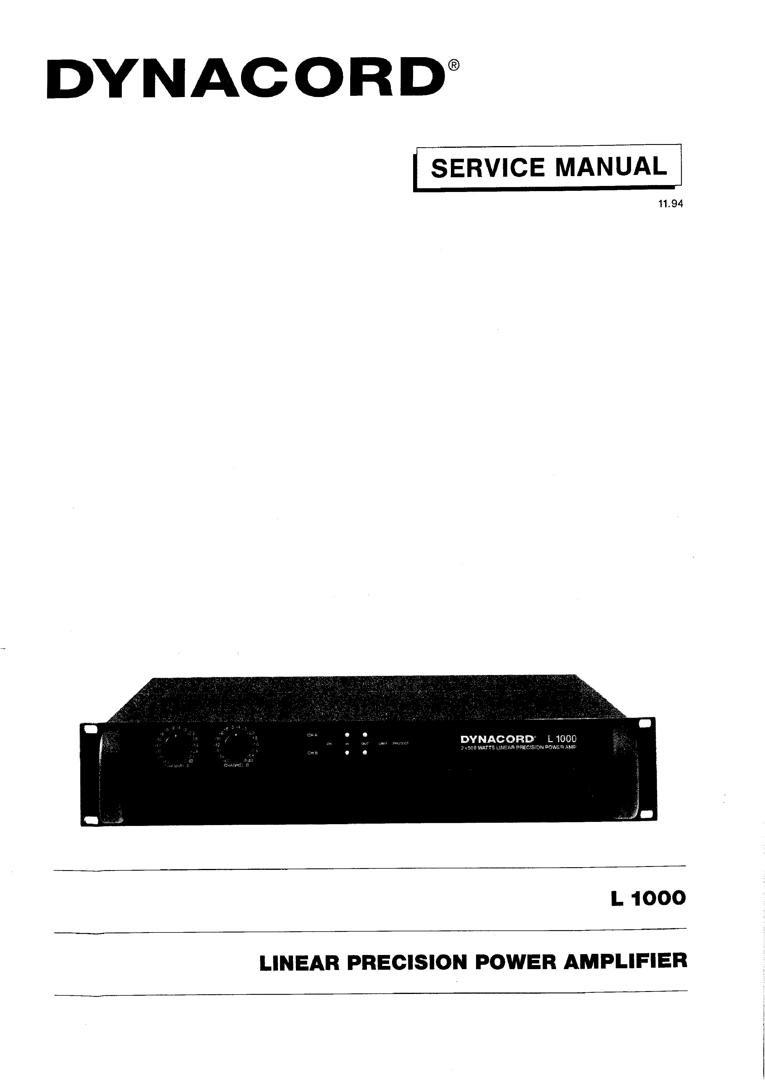 Dynacord service manual
