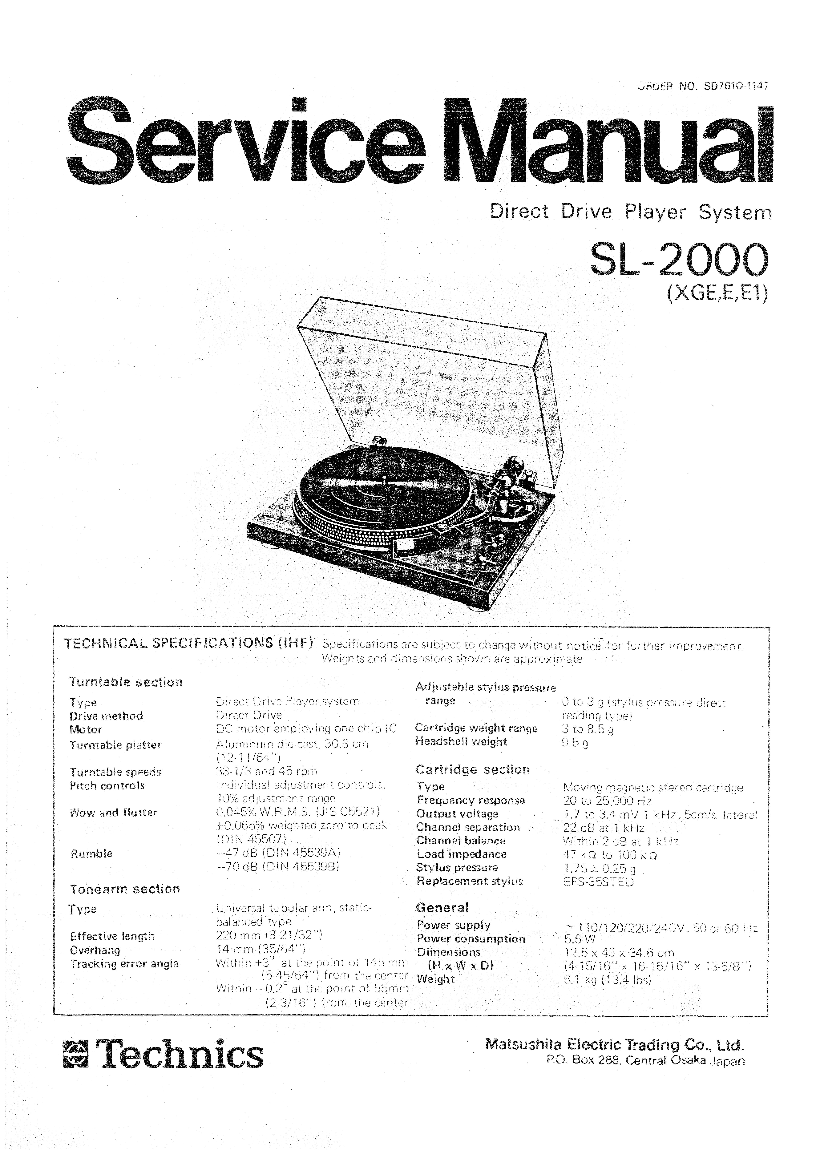 Technics manual Download