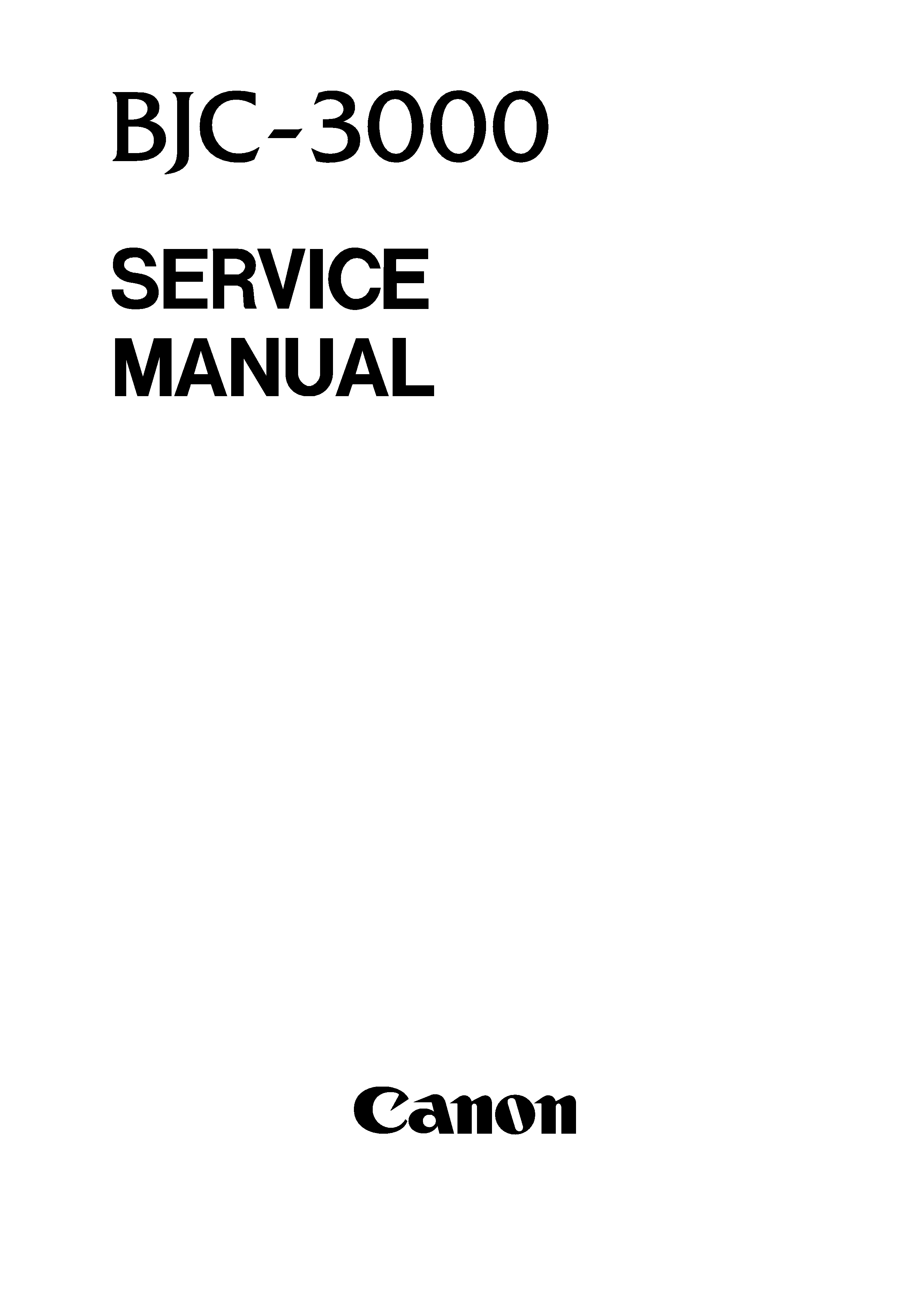 canon bjc3000 service manual immediate download. Black Bedroom Furniture Sets. Home Design Ideas
