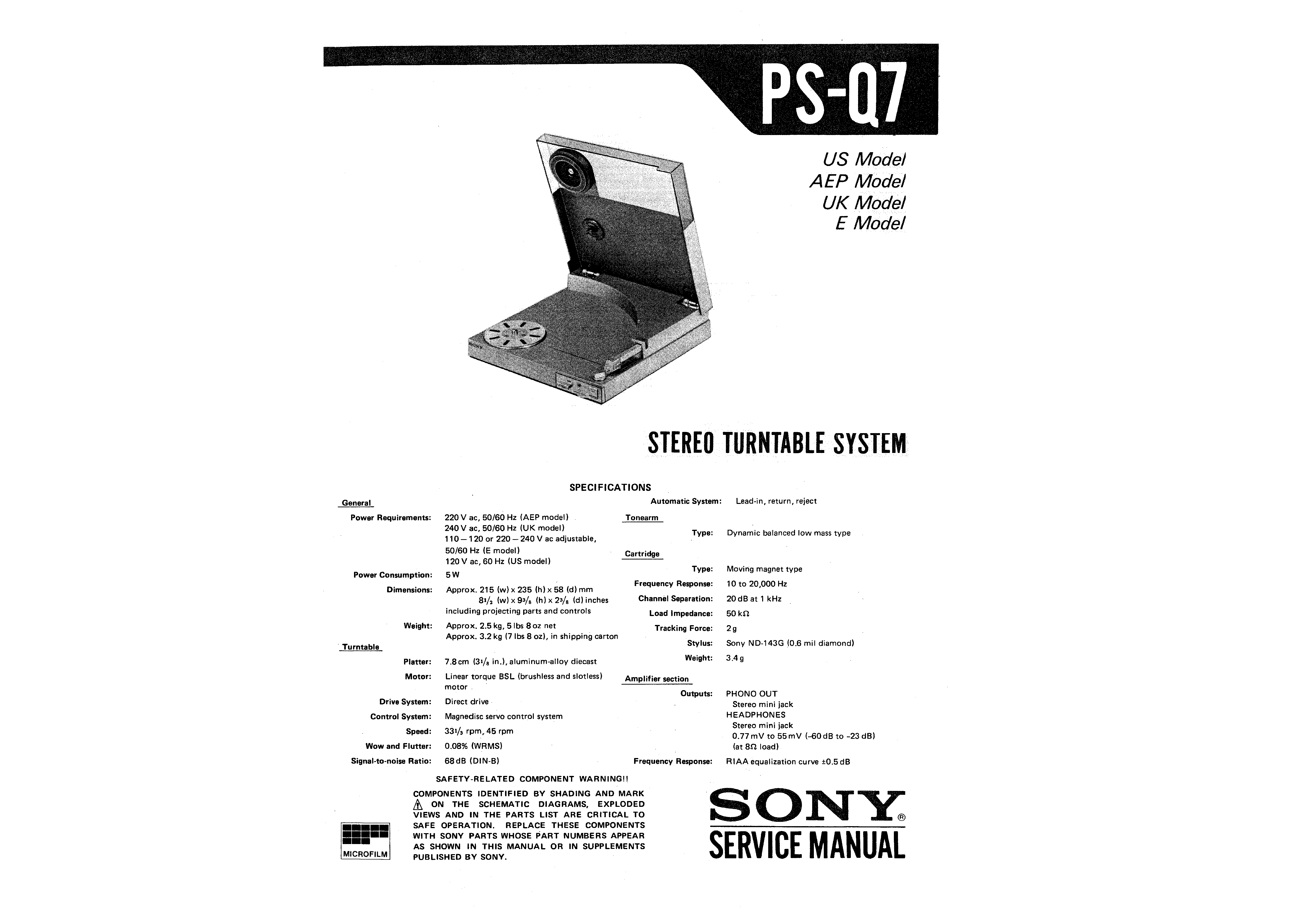 Sony Ps-q7