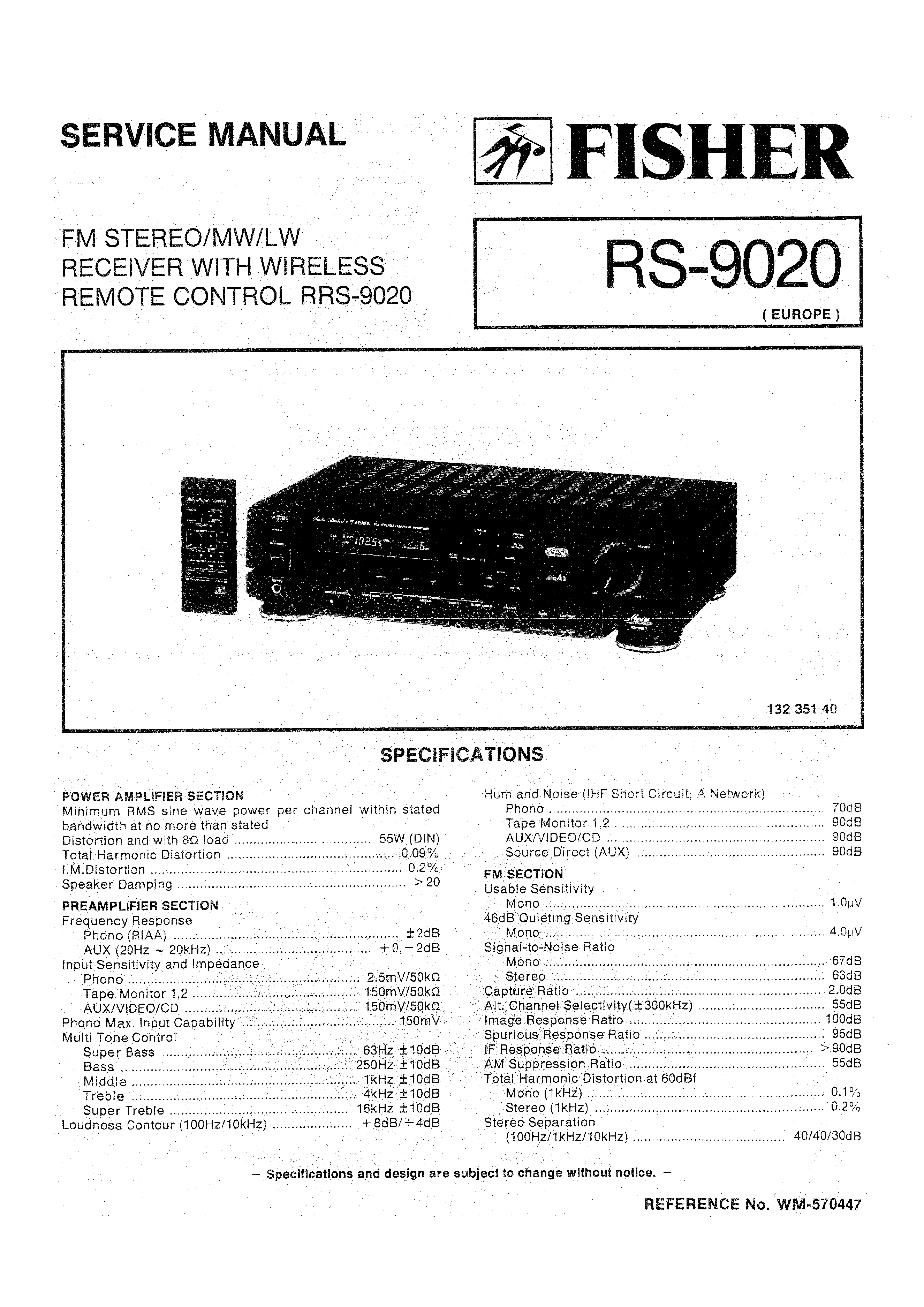 fisher rs9020