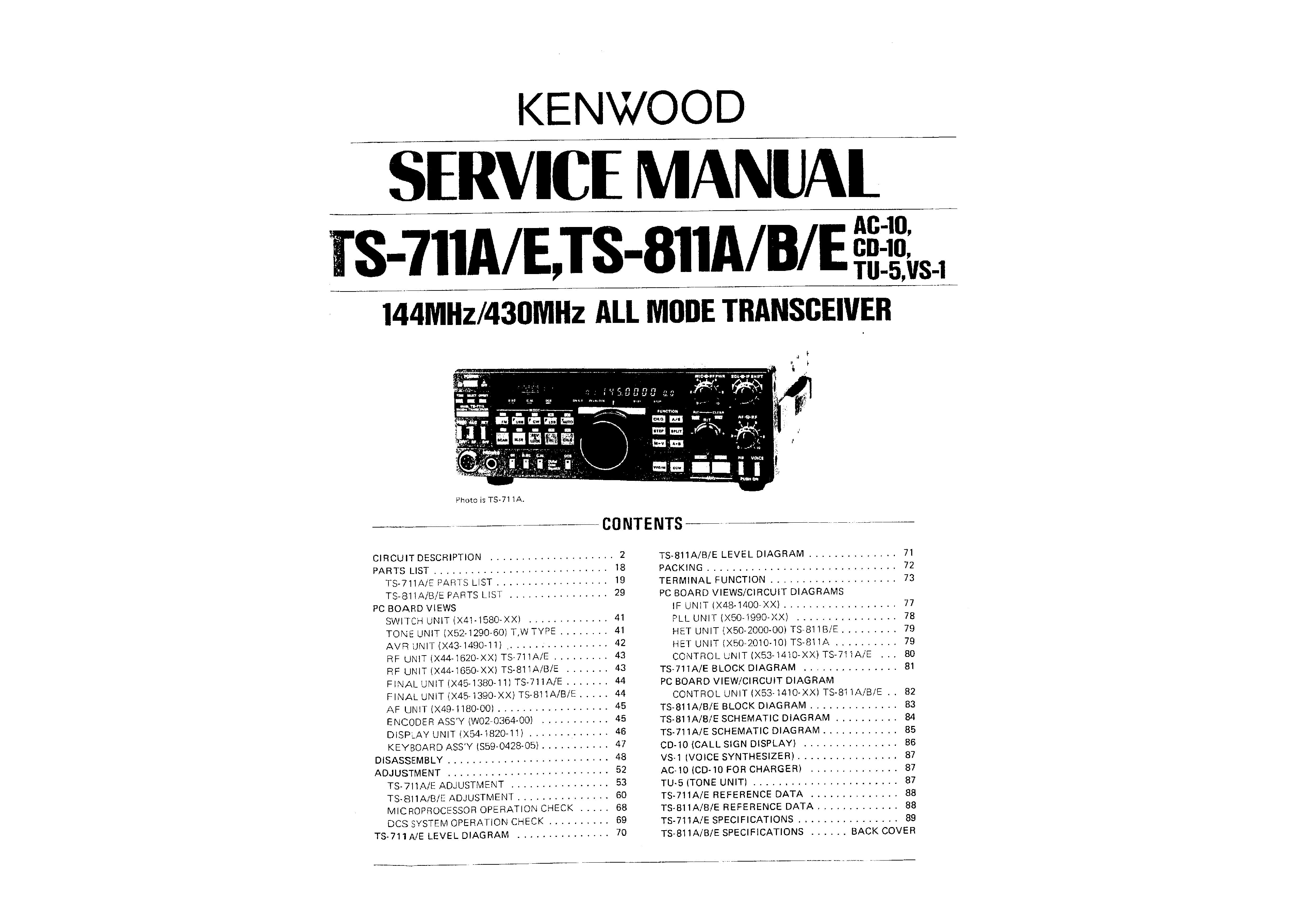 Kenwood ts 811e manual