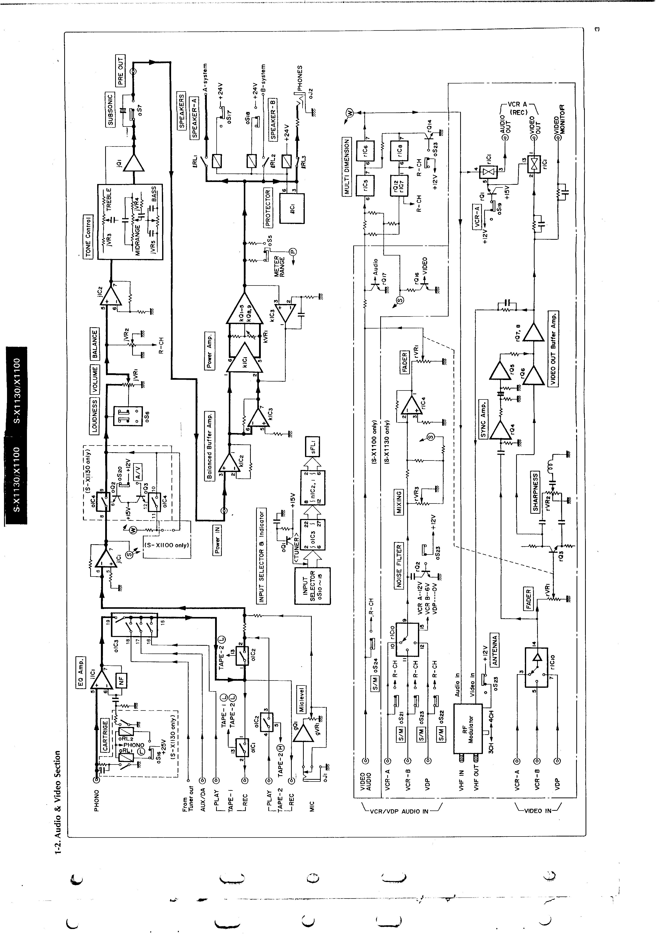 sansui s x1100 auto electrical wiring diagram